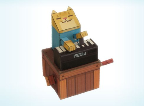 papercraft-keyboard-cat