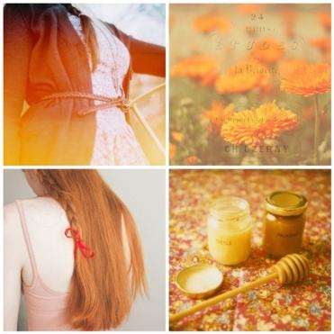 ginger, orange, flowers, hair, red, ribbon, inspiration, photo, flickr, mosaic, yellow, golden